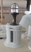 Prototype column with brass lamp and spacers